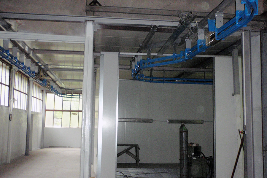 Automatization of spraying section