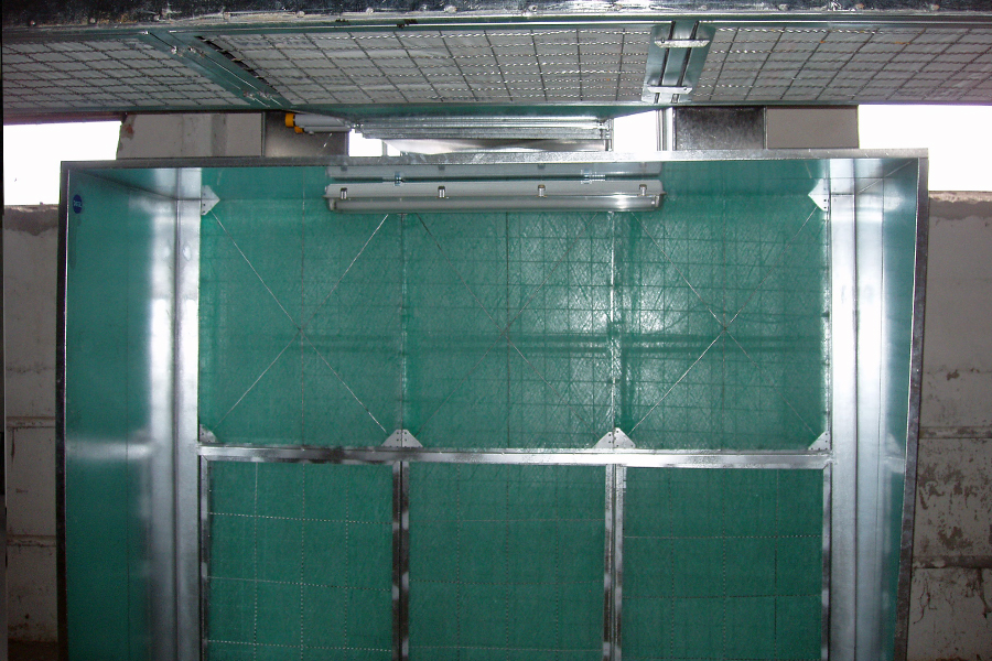 Dry filter spraying booth 2