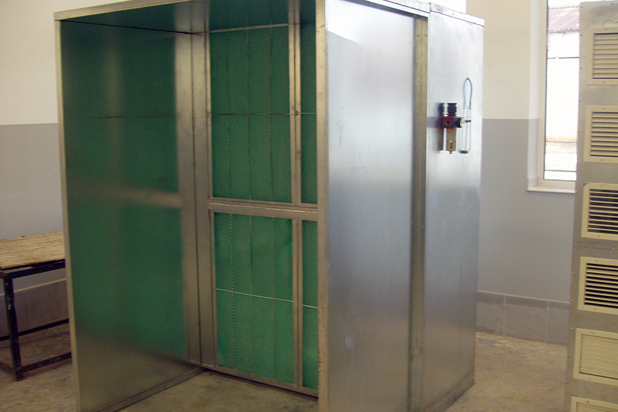 Dry filter spraying booth 3