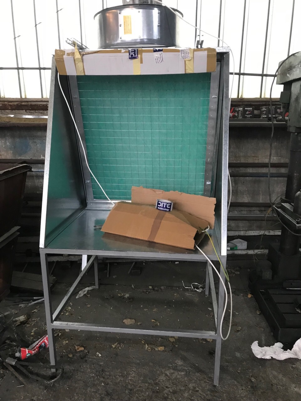 Small individual paint booth