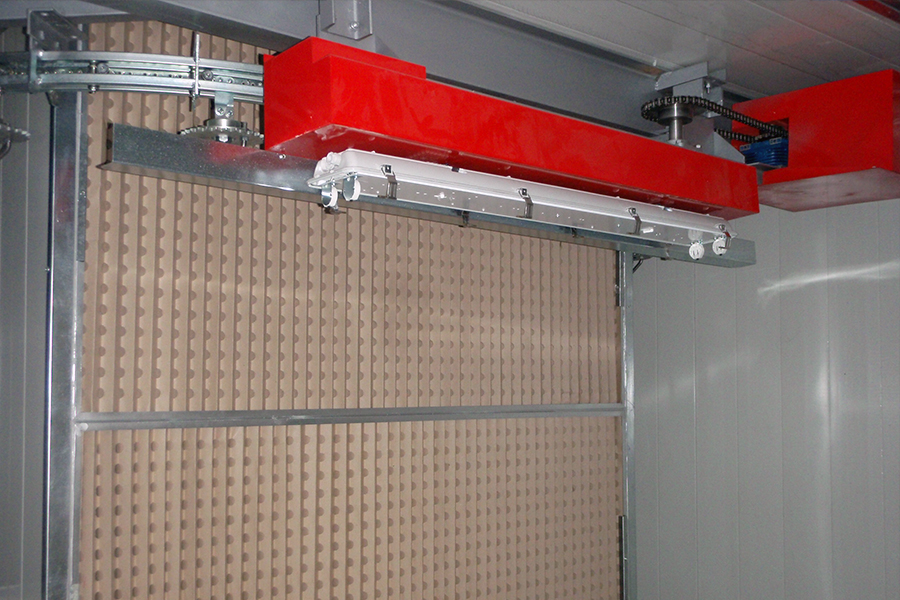 Dry filter spraying booth - a detail
